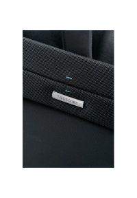 Czarna torba na laptopa Samsonite w kolorowe wzory, elegancka