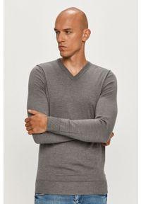 Strellson - Sweter. Kolor: szary. Materiał: dzianina. Długość rękawa: długi rękaw. Długość: długie