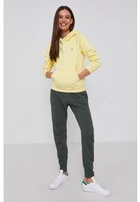 Polo Ralph Lauren - Bluza. Typ kołnierza: polo. Kolor: żółty. Materiał: dzianina. Długość rękawa: długi rękaw. Długość: długie