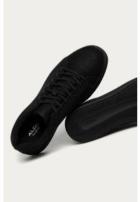 Czarne sneakersy Aldo z cholewką, z okrągłym noskiem
