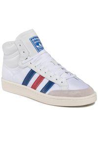 Adidas - Buty adidas - Americana Hi EF2803 Ftwwht/Croyal/Scarle. Zapięcie: sznurówki. Kolor: biały. Materiał: skóra, materiał, zamsz. Szerokość cholewki: normalna. Sezon: lato