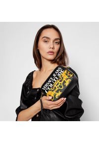 Versace Jeans Couture - Torebka VERSACE JEANS COUTURE - E1VWABG4 71727 M27 899+901. Kolor: czarny. Materiał: skórzane. Styl: wizytowy