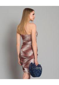 ALEXANDRE VAUTHIER - Jedwabna sukienka w kropki. Typ kołnierza: kokarda. Kolor: czarny. Materiał: jedwab. Wzór: kropki. Typ sukienki: dopasowane. Długość: mini