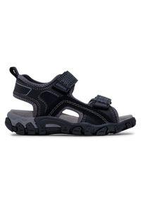 Superfit - Sandały SUPERFIT - 6-00451-00 M Schwarz. Kolor: czarny. Materiał: materiał, skóra. Sezon: lato. Styl: klasyczny