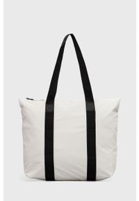 Rains - Torebka 1225 Tote Bag Rush. Kolor: biały. Rodzaj torebki: na ramię