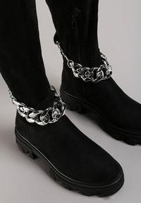 Renee - Czarne Kozaki Corbastus. Wysokość cholewki: przed kolano. Nosek buta: okrągły. Zapięcie: zamek. Kolor: czarny. Szerokość cholewki: normalna. Obcas: na obcasie. Styl: klasyczny