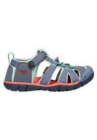 keen - Sandały dziecięce Keen Seacamp II CNX 1022990. Okazja: na plażę. Materiał: guma, syntetyk, tkanina, poliester