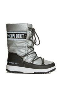 Moon Boot - Buty MOON BOOT JR G.QUILTED WP. Materiał: puch, skóra ekologiczna, syntetyk, nylon, kauczuk. Szerokość cholewki: normalna