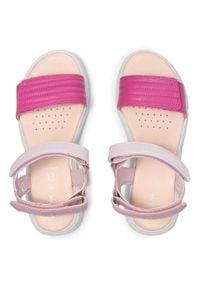 Geox - Sandały GEOX - J S.Deaphne G. J J15DUJ 000BC C0799 D Pink/Fuchsia. Kolor: różowy. Materiał: skóra, skóra ekologiczna. Sezon: lato. Styl: wakacyjny