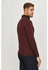 Only & Sons - Sweter. Okazja: na co dzień. Kolor: czerwony. Materiał: dzianina. Długość rękawa: długi rękaw. Długość: długie. Styl: casual