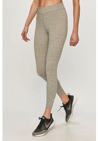 Nike Sportswear - Legginsy. Stan: podwyższony. Kolor: szary. Materiał: dzianina. Wzór: gładki