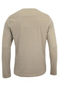 Brave Soul - Koszulka Beżowa z Długim Rękawem, Longsleeve, T-shirt Męski -BRAVE SOUL. Okazja: na co dzień. Kolor: beżowy, brązowy, wielokolorowy. Materiał: bawełna. Długość rękawa: długi rękaw. Długość: długie. Styl: casual