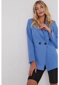 Answear Lab - Marynarka. Okazja: na co dzień. Kolor: niebieski. Materiał: tkanina. Wzór: gładki. Styl: wakacyjny