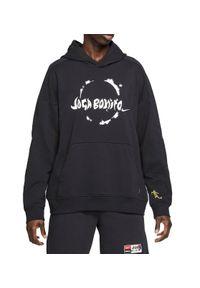 Bluza męska z kapturem Nike Joga Bonito CZ0995. Typ kołnierza: kaptur. Materiał: bawełna, dzianina, materiał, elastan, poliester. Wzór: napisy, aplikacja. Sport: joga i pilates