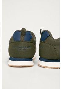 Zielone sneakersy U.S. Polo Assn z cholewką, na sznurówki