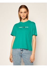 Zielony t-shirt Tommy Jeans