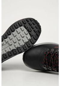 Czarne sneakersy Napapijri na sznurówki, z cholewką