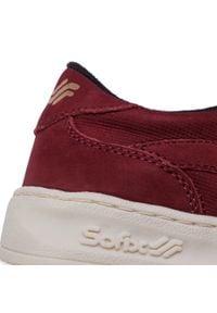 Czerwone buty sportowe Sofix na co dzień, z cholewką