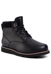 Czarne buty zimowe Ugg z cholewką, klasyczne