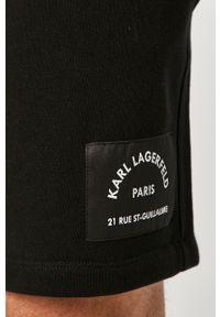 Czarne szorty Karl Lagerfeld na co dzień, casualowe