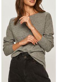 Szary sweter Morgan na co dzień, z długim rękawem, casualowy