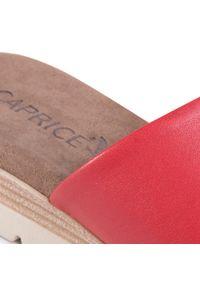 Czerwone klapki Caprice