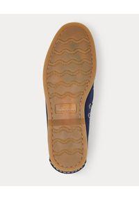 Ralph Lauren - RALPH LAUREN - Mokasyny ze skóry zamszowej. Okazja: na co dzień. Kolor: niebieski. Materiał: zamsz, skóra. Wzór: aplikacja. Sezon: lato. Styl: elegancki, casual #5