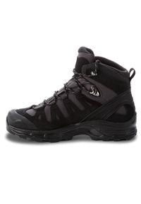 Czarne buty trekkingowe salomon na sznurówki, Gore-Tex