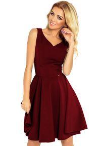 Numoco - Rozkloszowana sukienka z dekoltem w kształcie serca. Okazja: na wesele, na ślub cywilny, na imprezę. Styl: elegancki