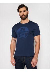 North Sails T-Shirt Graphic 692689 Granatowy Regular Fit. Kolor: niebieski