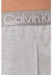Calvin Klein Underwear - Spodnie piżamowe. Kolor: szary. Materiał: włókno, dzianina. Wzór: gładki