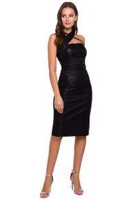 Czarna sukienka wieczorowa MAKEOVER ołówkowa