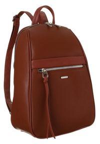 DAVID JONES - Plecak damski brązowy David Jones CM6025 CIENNA. Kolor: brązowy. Materiał: skóra ekologiczna