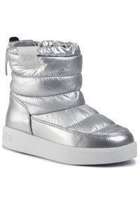 Pepe Jeans - Kozaki PEPE JEANS - Brixton Girl Nylon PGS50149 Silver Grey 914. Kolor: srebrny. Materiał: materiał