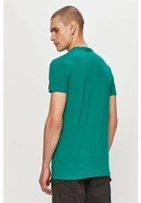 Pepe Jeans - T-shirt Original. Okazja: na co dzień. Kolor: turkusowy. Wzór: nadruk. Styl: casual