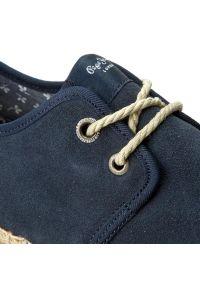 Niebieskie półbuty Pepe Jeans klasyczne, z cholewką, na co dzień