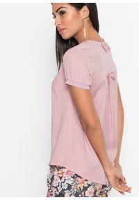 Bluzka tunikowa, TENCEL™ lyocell bonprix różowy herbaciany. Typ kołnierza: kokarda. Kolor: różowy. Materiał: lyocell. Styl: elegancki