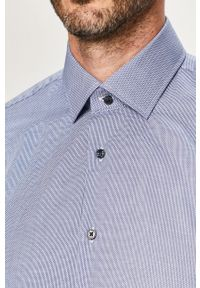 Niebieska koszula Strellson z długim rękawem, z klasycznym kołnierzykiem, elegancka