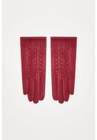 Czerwone rękawiczki MOODO z aplikacjami
