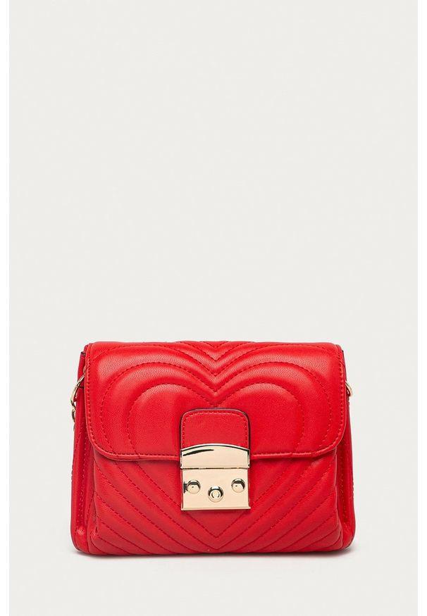 Morgan - Torebka. Kolor: czerwony. Rodzaj torebki: na ramię