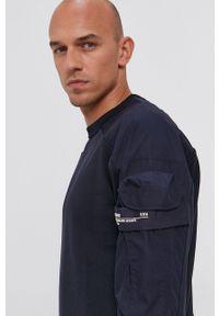 G-Star RAW - G-Star Raw - Bluza. Okazja: na co dzień. Kolor: niebieski. Długość rękawa: raglanowy rękaw. Styl: casual