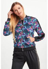 Bluza John Richmond Sport w kwiaty, sportowa, ze stójką