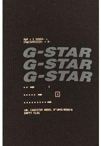 G-Star RAW - G-Star Raw - Longsleeve. Okazja: na co dzień. Kolor: czarny. Długość rękawa: długi rękaw. Wzór: nadruk. Styl: casual
