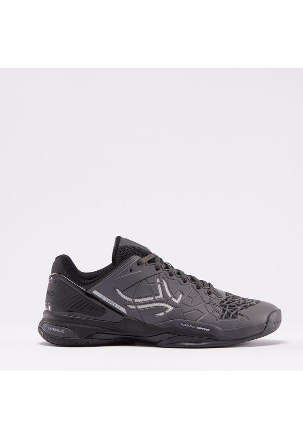 ARTENGO - Buty tenis TS960 męskie na każdą nawierzchnię. Kolor: czarny, wielokolorowy, szary. Materiał: mesh, kauczuk. Szerokość cholewki: normalna. Sport: tenis