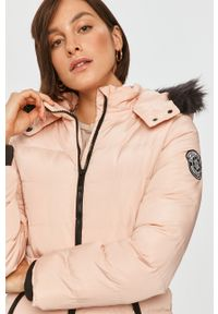 Różowa kurtka Answear Lab z kapturem, wakacyjna