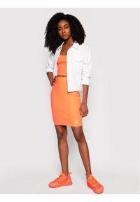 Pomarańczowa spódnica mini Calvin Klein Jeans