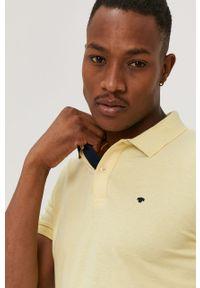 Żółta koszulka polo Tom Tailor na co dzień, gładkie