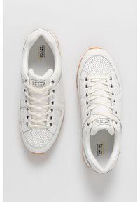 Camel Active - Buty skórzane. Nosek buta: okrągły. Zapięcie: sznurówki. Kolor: biały. Materiał: skóra