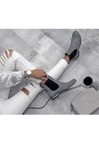 Szare botki Zapato wąskie, w kolorowe wzory