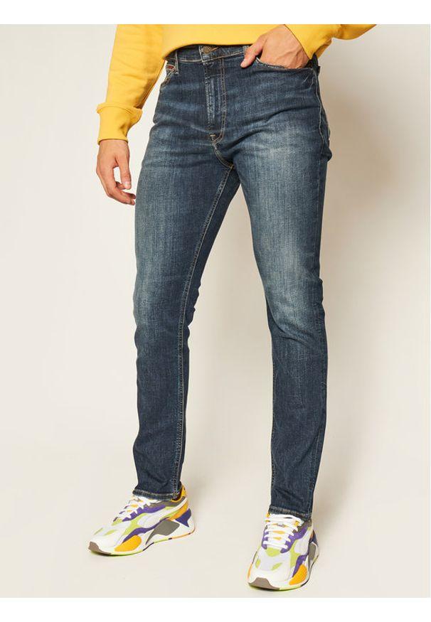 Tommy Jeans Jeansy Skinny Fit Simon DM0DM08242 Granatowy Skinny Fit. Kolor: niebieski